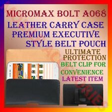 ACM-BELT CASE for MICROMAX BOLT A068 MOBILE LEATHER CARRY POUCH COVER HOLDER NEW
