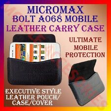 ACM-HORIZONTAL LEATHER CARRY CASE for MICROMAX BOLT A068 MOBILE POUCH COVER CASE