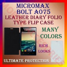 ACM-LEATHER DIARY FOLIO FLIP FLAP CASE for MICROMAX BOLT A075 MOBILE FULL COVER