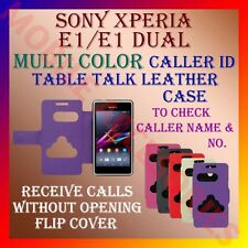 ACM-CALLER ID TABLE TALK CASE for SONY XPERIA E1/ E1 DUAL MOBILE FLIP COVER NEW