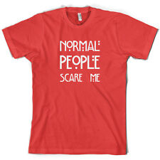 Normal People Scare me - Mens T-Shirt - S-XXL - 10 Colours - Horror Story