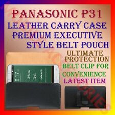ACM-BELT CASE for PANASONIC P31 MOBILE LEATHER CARRY POUCH COVER CLIP HOLDER NEW