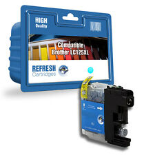 COMPATIBLE BROTHER MFC DCP CYAN HIGH CAPACITY INK CARTRIDGE LC125XL / LC127XL