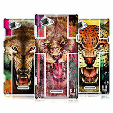 HEAD CASE DESIGNS PRINT ANIMALS CASE COVER FOR SONY XPERIA L C2105