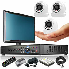 3 x Mini Compacted Camera Full D1 4 CH DVR CCTV Package Complete Pack Monitor 3G