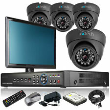 4 x Weather Proof Camera Full HD 8 CH DVR CCTV Package DIY Complete with Monitor