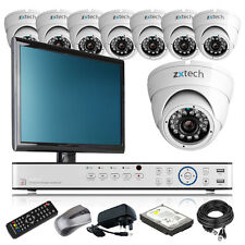 8 x Professional Camera HD-MI 16 CH DVR CCTV Package DIY Complete with Monitor i