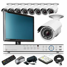 9 x 2.8-12mm Camera HD-MI 16 CH DVR CCTV Complete Package Cloud P2P with Monitor