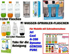 SODA CLUB Cool PET Flasche Sprudlerflasche  0,5L + 1 Liter  Reinigungstabs SIGG