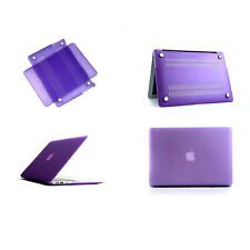 """Purple - New- AP Case - 13.3"""" Crystal Clear or Rubberised Macbook Air Case Cover"""