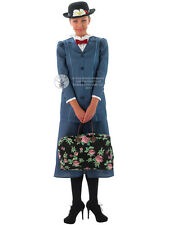 Adult Disney Mary Poppins Outfit Fancy Dress Costume Victorian Lady Edwardian