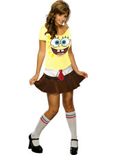 Adult Licensed Spongebob Squarepants Babe Fancy Dress Costume Sexy Ladies BN
