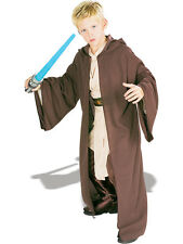Child Licensed Star Wars Jedi Robe Deluxe Outfit Fancy Dress Costume Boys BN