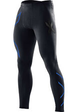 2XU Mens Compression Tights - BLACK / PRUSSIAN BLUE * NEW IN BOX * FREE POSTAGE*