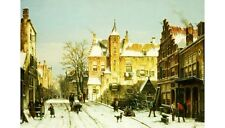 "WILLEM KOEKKOEK ""A Dutch Village In Winter"" Landscape various SIZES, BRAND NEW"