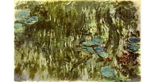 "CLAUDE MONET ""Water Lilies, Reflected Willow"" print various SIZES available, NEW"