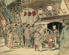 MORTIMER MENPES The Bill of the Play, Japan LANTERNS theatre people NEW CANVAS