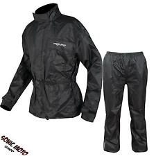 Waterproof Motorbike Motorcycle Over 2 pc Rain Suit Trouser Jacket Scooter