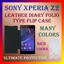 ACM-LEATHER DIARY FOLIO FLIP CASE for SONY XPERIA Z2 MOBILE FRONT & BACK COVER