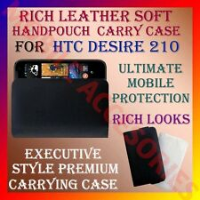 ACM-RICH LEATHER SOFT CARRY CASE for HTC DESIRE 210 MOBILE HANDPOUCH COVER POUCH