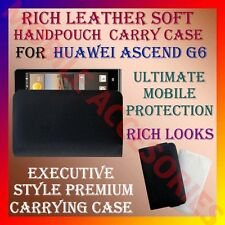 ACM-RICH LEATHER SOFT CARRY CASE for HUAWEI ASCEND G6 MOBILE HANDPOUCH COVER NEW