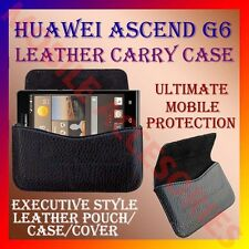ACM-HORIZONTAL LEATHER CARRY CASE for HUAWEI ASCEND G6 MOBILE POUCH COVER HOLDER