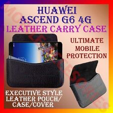 ACM-HORIZONTAL LEATHER CARRY CASE for HUAWEI ASCEND G6 4G MOBILE POUCH COVER NEW