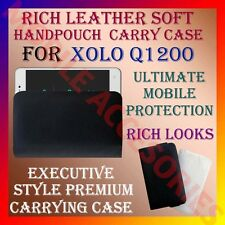 ACM-RICH LEATHER SOFT CARRY CASE for XOLO Q1200 MOBILE HANDPOUCH COVER POUCH NEW