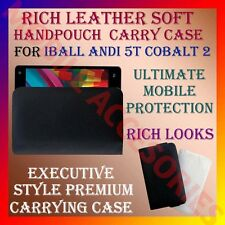 ACM-RICH LEATHER SOFT CARRY CASE for IBALL ANDI 5T COBALT 2 MOBILE COVER POUCH