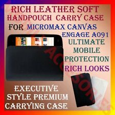 ACM-RICH LEATHER SOFT CARRY CASE for MICROMAX CANVAS ENGAGE A091 HANDPOUCH COVER