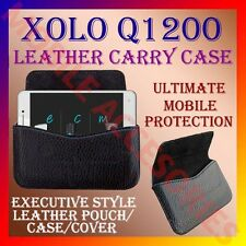 ACM-HORIZONTAL LEATHER CARRY CASE for XOLO Q1200 MOBILE RICH POUCH COVER HOLDER