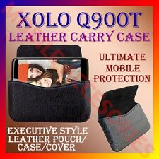 ACM-HORIZONTAL LEATHER CARRY CASE for XOLO Q900T MOBILE POUCH COVER HOLDER NEW