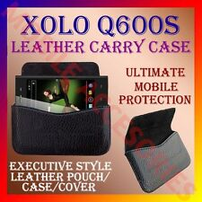 ACM-HORIZONTAL LEATHER CARRY CASE for XOLO Q600S MOBILE POUCH COVER HOLDER NEW