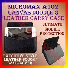 ACM-HORIZONTAL LEATHER CARRY CASE for MICROMAX A102 CANVAS DOODLE 3 POUCH COVER