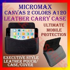 ACM-HORIZONTAL LEATHER CARRY CASE for MICROMAX CANVAS 2 COLORS A120 POUCH COVER