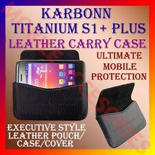 ACM-HORIZONTAL LEATHER CARRY CASE for KARBONN TITANIUM S1+ PLUS MOBILE COVER