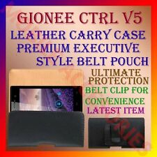 ACM-BELT CASE for GIONEE CTRL V5 MOBILE LEATHER CARRY POUCH PREMIUM COVER CLIP