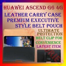 ACM-BELT CASE for HUAWEI ASCEND G6 4G MOBILE LEATHER CARRY POUCH COVER CLIP NEW