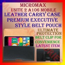 ACM-BELT CASE for MICROMAX UNITE 2 A106 MOBILE LEATHER CARRY POUCH COVER HOLDER