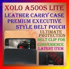 ACM-BELT CASE for XOLO A500S LITE MOBILE LEATHER CARRY POUCH COVER CLIP HOLDER