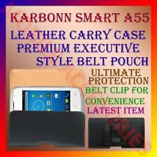 ACM-BELT CASE for KARBONN SMART A55 MOBILE LEATHER CARRY POUCH COVER CLIP HOLDER
