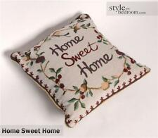 "Vintage Home Sweet Home Tapestry Cushion Covers or Filled Cushions - 17"" / 43cm"
