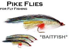 3x *BAITFISH* (MPF5) Pike Fly - Flies for Pike Saltwater & Predator Fly Fishing