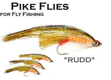 3x *RUDD* (MPF2) Pike Fly - Flies for Pike Saltwater & Predator Fly Fishing