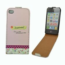 MULTI COLOR CASE SMALL SWEET DESIGN FLIP PU LEATHER APPLE IPHONE 4/4S