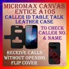 ACM-CALLER ID TABLE TALK CASE for MICROMAX CANVAS ENTICE A105 MOBILE FLIP COVER