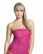 Cleo by Panache Betty Bandeau Strapless Tankini Top CW0031 Pink Spot * New