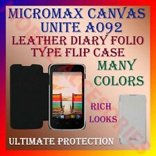 ACM-LEATHER DIARY FOLIO FLIP FLAP CASE for MICROMAX CANVAS UNITE A092 FULL COVER