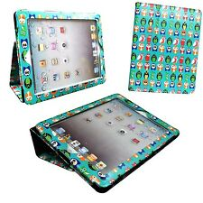 VERDE FUNDA MULTICOLOR OWL ESTAMPADO CUERO DE PU PARA IPAD MINI APPLE