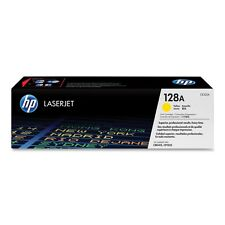 GENUINE HP HEWLETT PACKARD CE322A / 128A YELLOW LASER PRINTER TONER CARTRIDGE